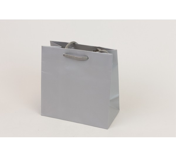"Glossy Tote bag with Rope Handles 6"" x 3"" x 6"""