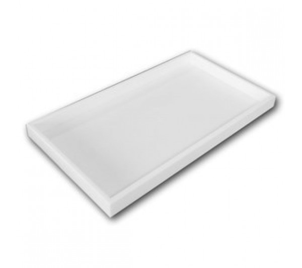 "One And A Half Inches Deep White Full Size Plastic Stackable Jewelry Tray 14-3/4"" X 8-1/4"" X 1-1/2""H"