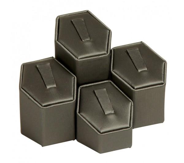 """4-Clip Ring Display 1 3/4"""" x 1 5/8"""" x 1 1/4""""-2 1/2"""" H"""