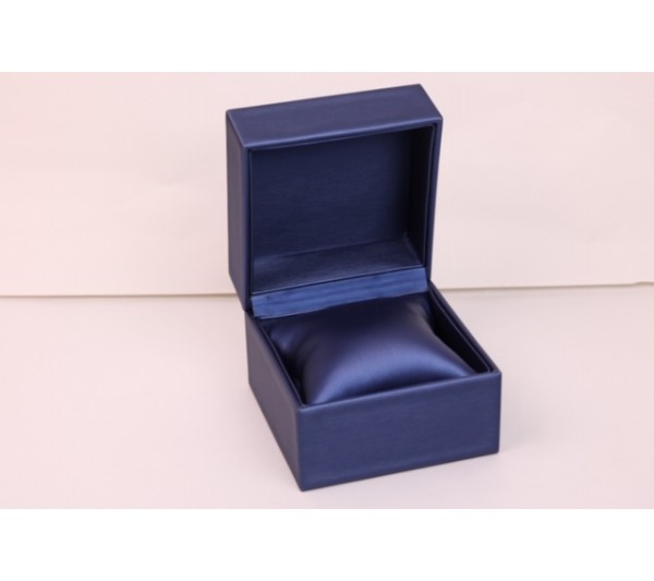 "Steel Blue /Royal Blue Watch/ Bangle Box, 4 3/8""(L) x  4 3/8""(W) x 3 1/2"" H"