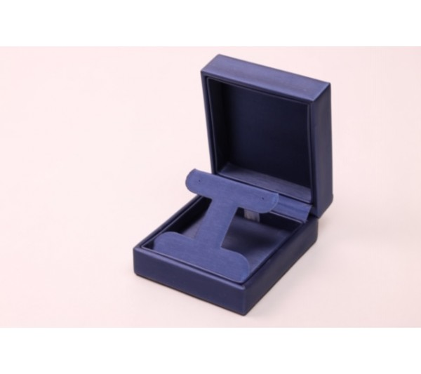 "Steel Blue /Royal Blue  Pendant  Box, 2 3/4""(L) x 3 1/4""(W) x 1 1/2"" H"