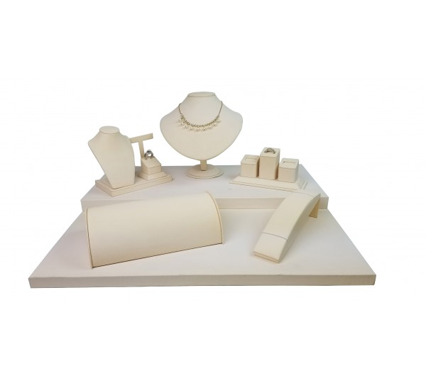 "Beige 6-pcs Display Set, 20""  W x 18"" D x 9 5/8"" H"