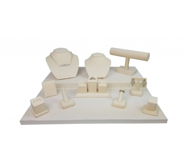 "Beige 11-pcs Display Set, 20""  W x 18"" D x 9 5/8"" H"