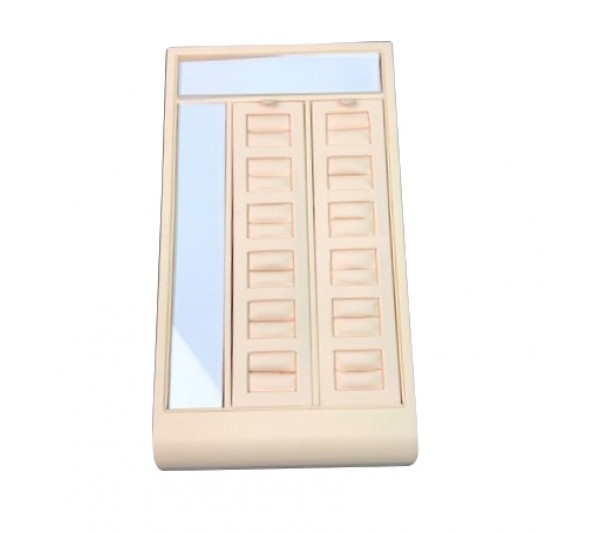 """Beige  Double Ring Display, 5 1/4"""" x 9 1/4"""" x 2 5/8"""" H"""