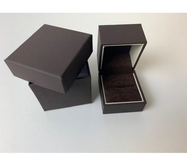 """Ring box-1 7/8X2 X1 7/8"""" Brown"""