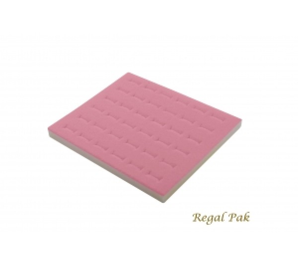 "Half Size Pink Ring Foam Insert (36 Rings) 7-3/4"" X 6-3/4"" X 5/8""H"