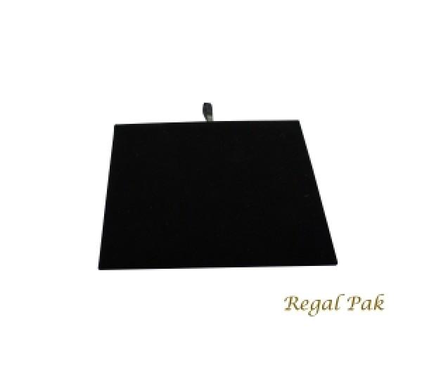 "Half Size Black Velvet Tray Pad 7-3/4"" X 6-3/4"""