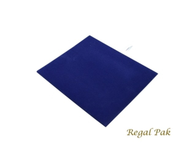 "Half Size Blue Velvet Tray Pad 7-3/4"" X 6-3/4"""