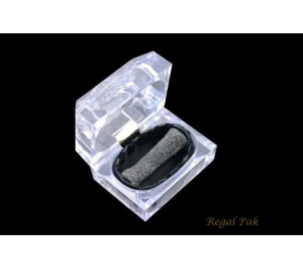 "Monaco Collection Rectangular Deluxe Crystal Double Ring Box 2-1/2"" X 1-3/4"" X 2""H [ 16 PCs in a Pack]"