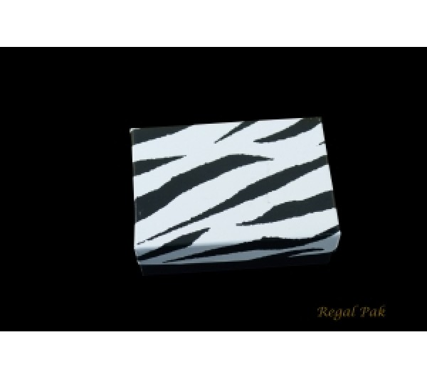 "Zebra Cotton Filled Paper Box 3 1/4x2 1/4""x1"" (100 pcs)"