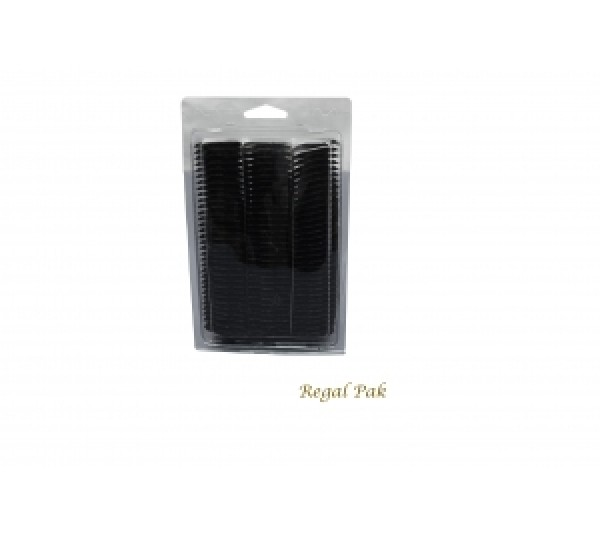"Black Plain Plastic Puff Pad Hanging Earring Cards (100 Pieces In A Pack) 1-1/2"" X 1-3/4"" H"