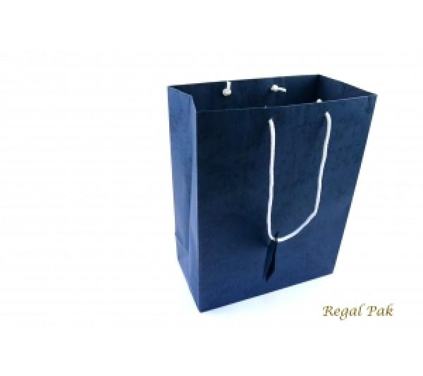 """Dark Blue Shopping Tote 7 3/4"""" X 4"""" X 9 3/4""""H"""