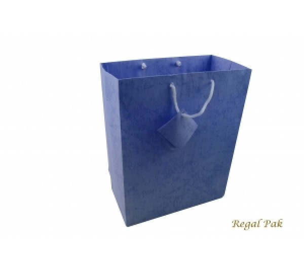 "Blue Shopping Tote 7 3/4"" X 4"" X 9 3/4""H"