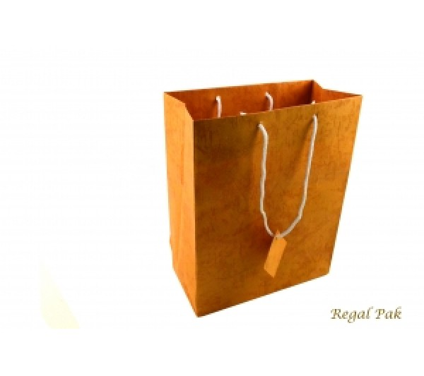 "Orange Shopping Tote 7 3/4"" X 4"" X 9 3/4""H"