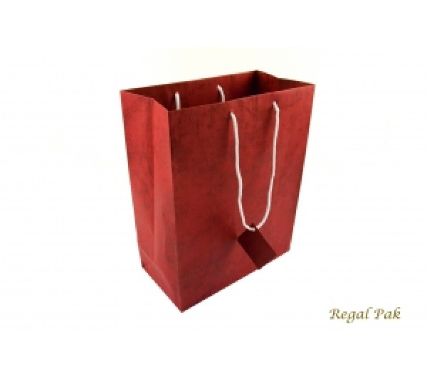 "Red Shopping Tote 7 3/4"" X 4"" X 9 3/4""H"
