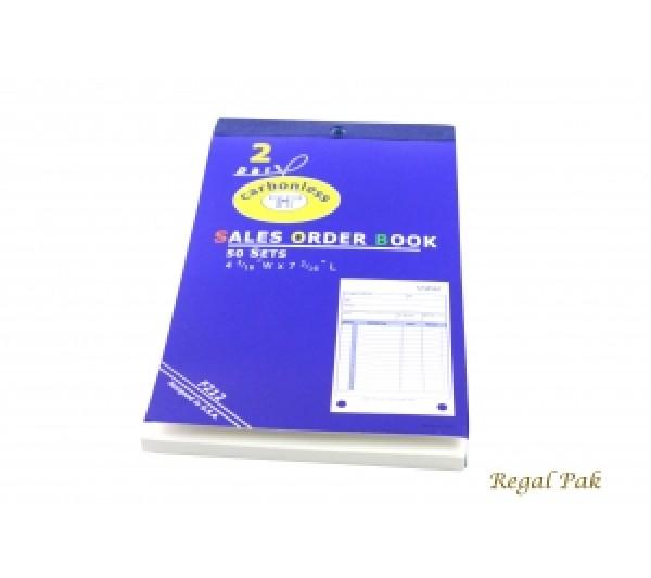 """Medium Size 2-Part Sales Order Carbonless Book (50 Sets Per Book) 4 3/16"""" X 7 3/16"""""""