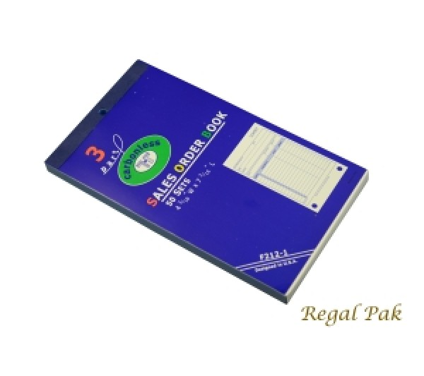 "3-Part Sales Order Book (Carbonless)(50 Sets/Book) 4 3/16"" X 7 3/16"""