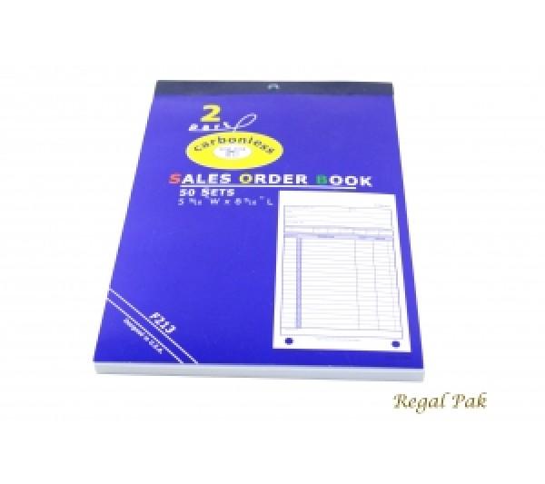 "Large Size 2-Part Sales Order Carbonless Book (50 Sets Per Book) 5 9/16"" X 8 7/16"""