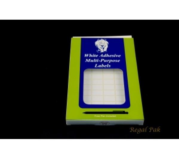 """White Paper Adhesive Plain Lable (1040-Pcs) 3/8"""" X 5/8"""""""