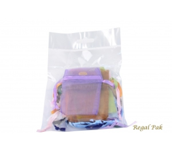 "Assorted Organza Drawstring Pouch 1 3/4"" X 2"" (12 Pieces/One Dozen)"