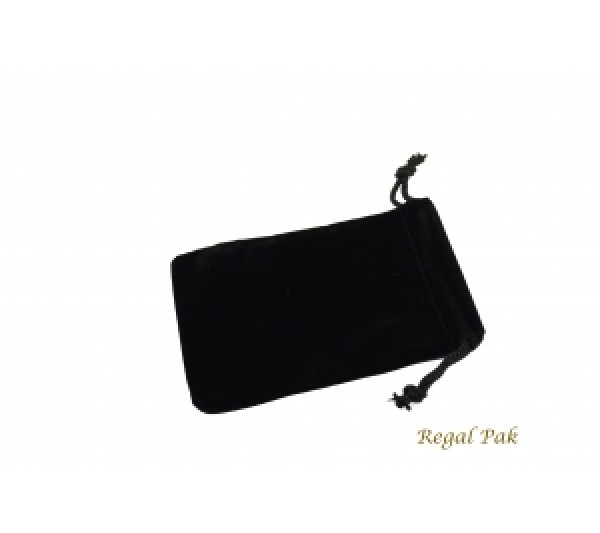 "Black Velvet Drawstring Pouch 3"" X 4"" (12 Pieces/One Dozen)"