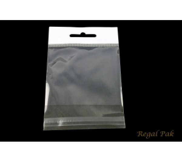 "Clear Opp Bag With Hanging Header (100 Pieces In A Pack) 3"" X 3"""