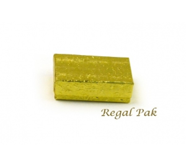 "Cotton Filled Box (Gold) - 2 1/8"" X 1 5/8"" X3/4""   (100PCS)"