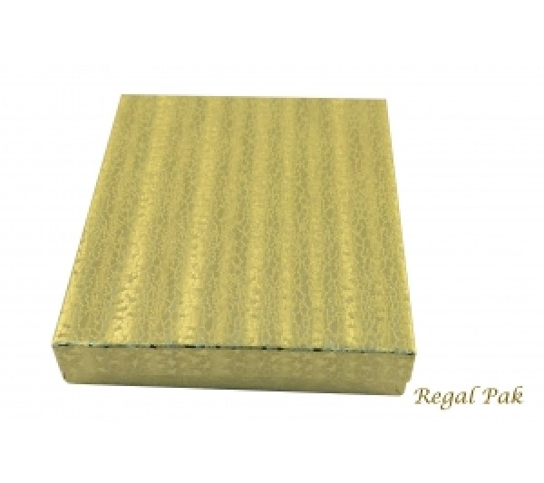 "Gold Texture Cotton Filled Box- 6 1/8"" X 5 1/8"" X1 1/8""  (100 pcs)"