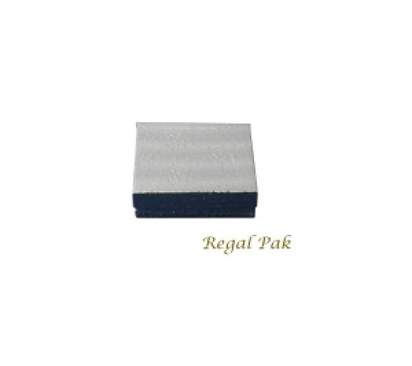 "Silver Texture Cotton Filled Box  - 3 1/2"" X 3 1/2"" X 1"" (100 pcs)"