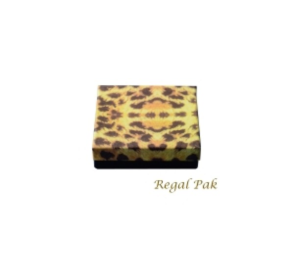 "Leopard Cotton Filled Box  - 3 1/2"" X 3 1/2"" X 1""  (100 pcs)"