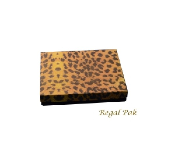 "Leopard Cotton Filled Box  - 6 1/8"" X 5 1/8"" X1 1/8""   (100 pcs)"