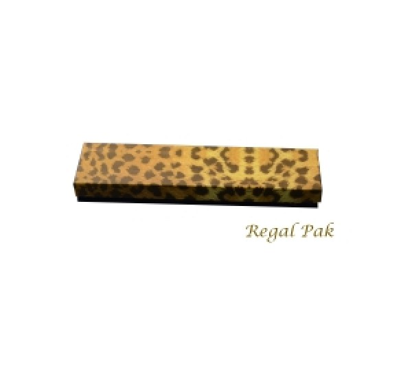 "Leopard Cotton Filled Box  -8"" x 2"" x 1""  (100 pcs)"