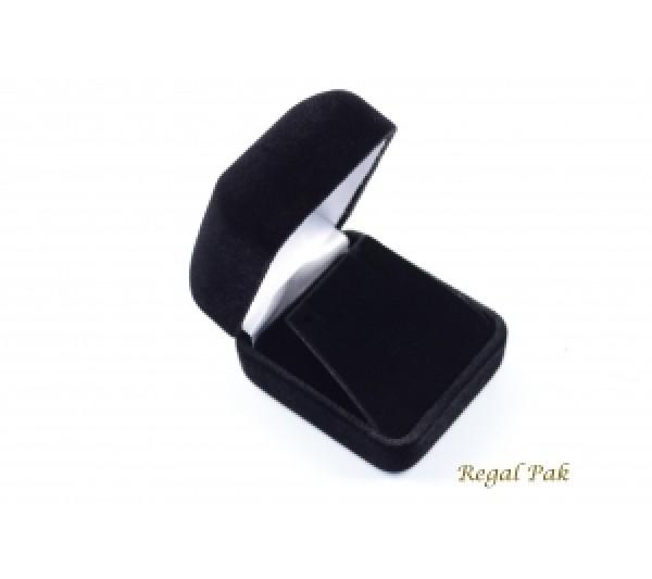 "Richmond Collection Velvet Metal Earring Box 1 7/8"" x 2 1/8"" x 1 1/2""H"