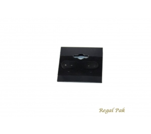 "Black Plain Hanging Earring Card (100 Pieces In A Pack) 1-1/2"" X 1-1/2"""