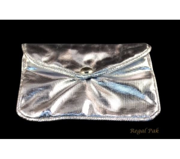 "Silver Zipper Pouch 4 1/2"" X 3 1/2"" (12 Pieces/One Dozen)"