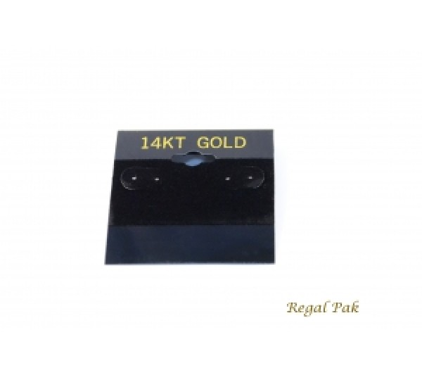 "Black 14k Gold Hanging Earring Cards (100 Pieces In A Pack) 2"" X 2"""