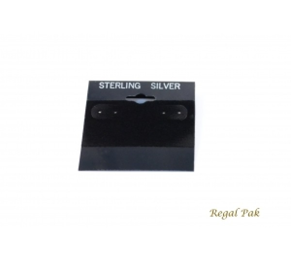 "Black  Sterling Silver Hanging Earring Cards (100 Pieces In A Pack) 2"" X 2"""