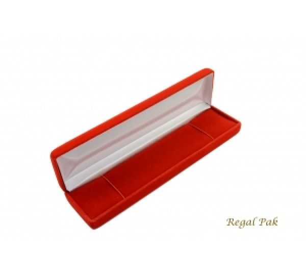 "Richmond Collection Red Braclet Box  8"" x 2"" x 1 1/8""H"