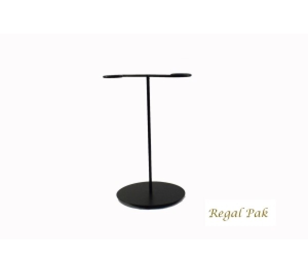 Small Black Necklace Metal Stand 6-1/2''W X 5-1/8''D X 10''H
