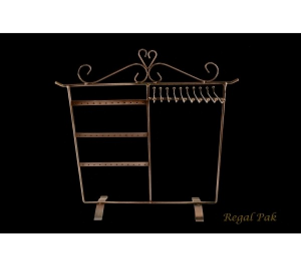 """Copper Wire Earring/Necklace Stand (18 Pairs) 13-7/8"""" X 14-3/4""""H"""