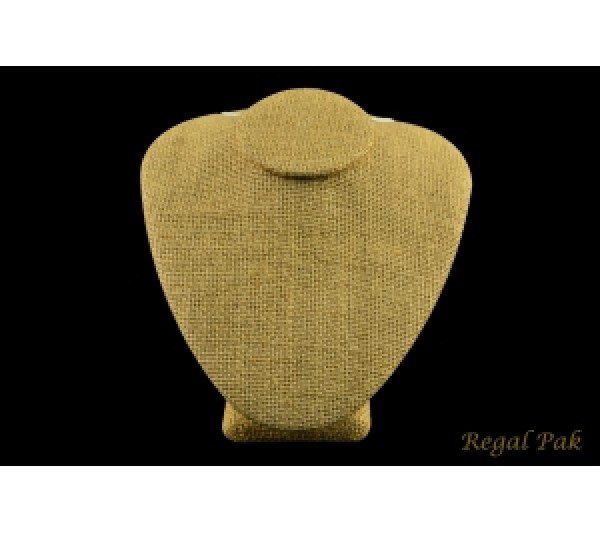 "Burlap Natrual Necklace Bust Display 6"" X 7"" X 4 1/2"" H"