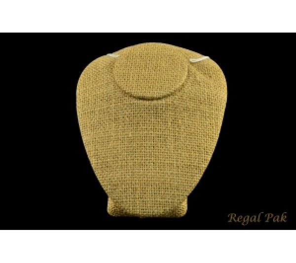 "Burlap Natrual Necklace Bust Display 4"" X 5"" X 3 1/2"" H"