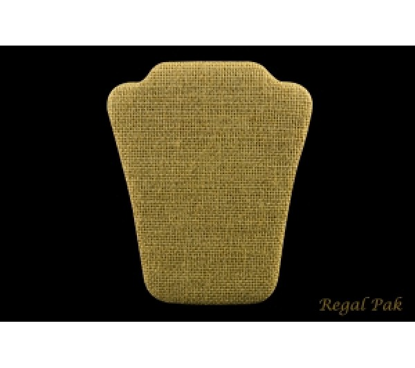 """Burlap Natrual Curved Necklace Easel Stand 4 1/2"""" X 5 1/2""""H"""