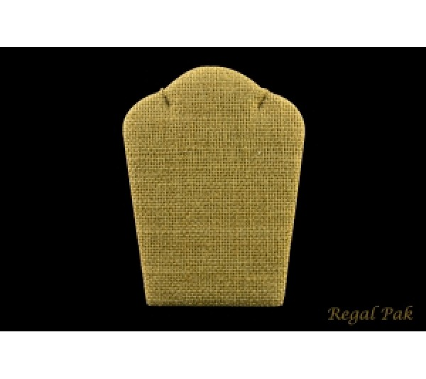 """Burlap Natrual Curved Necklace Easel Stand 3 7/8"""" X 5 1/4"""""""