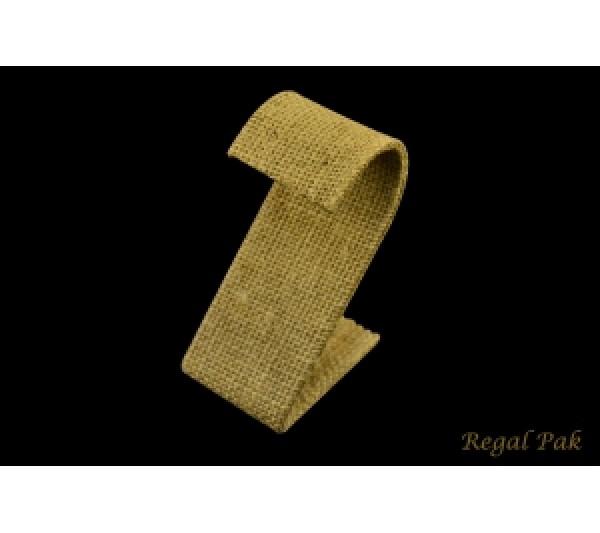 "Burlap Natrual S Shaped Earring Stand 1-1/2"" X 2-1/8"" X 3-1/4""H"