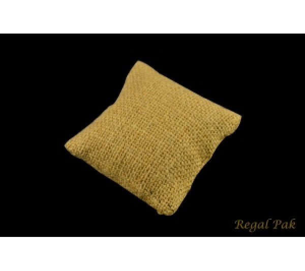"Small Burlap Natrual Bracelet/Watch Pillow 3""X3"""