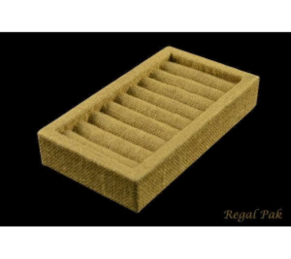 "Burlap Natrual Bangle Tray 10 1/2"" X 4 1/8"" X 1 3/8""H"