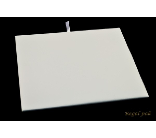 "Half Size White Leatherette Pad 7 3/4"" X 6 3/4"""