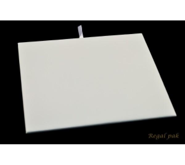 "Half Size White Leatherette Pad 7 3/4"" X 6 3/4"""