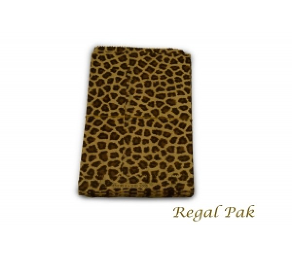 "Leopard Print Jewelry Gift Bag (100 Pieces In A Pack) 6"" By 9"""